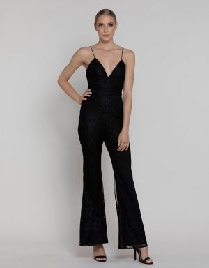 LUMIER ESTELLE LACE JUMPSUIT